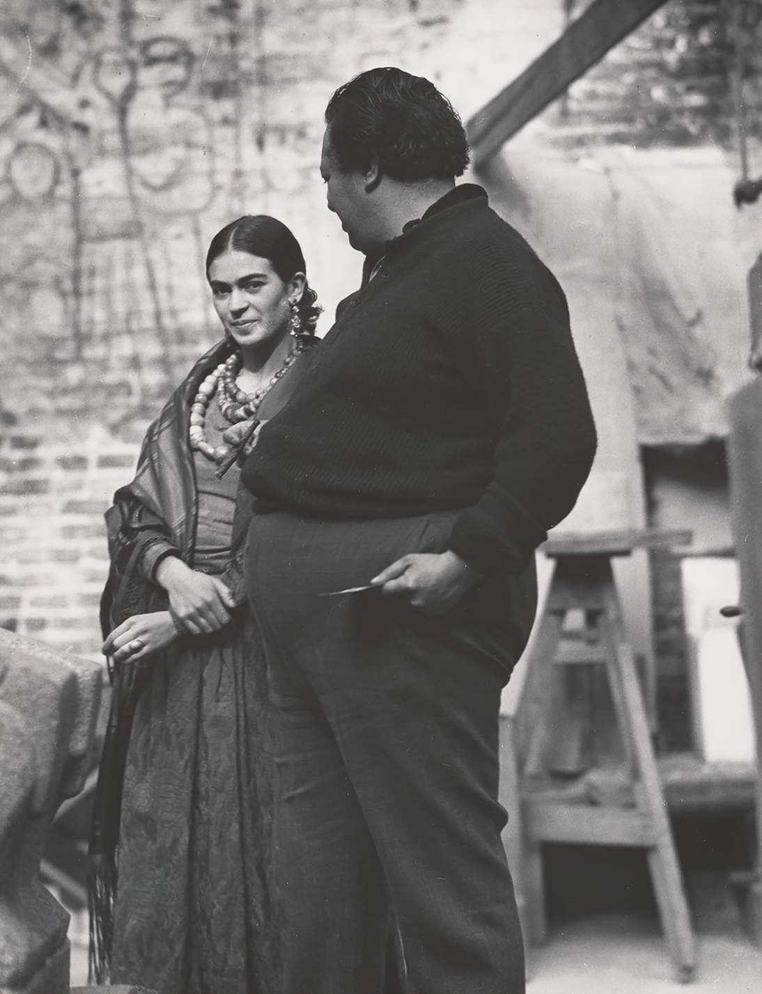 "Edward Weston, ""Diego Rivera and Frida Kahlo,"" 1930"