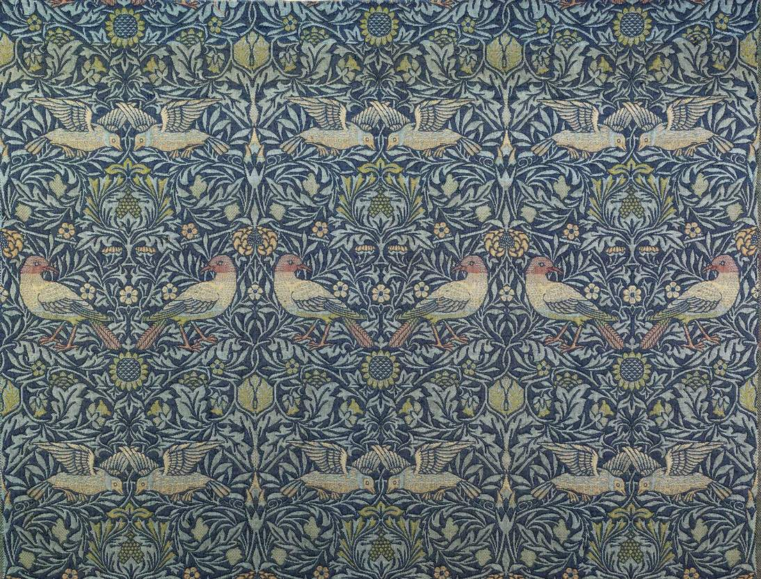 William Morris (designer), Morris and Company (manufacturer), English, 1861–1940, Bird Curtain, 1878–1881. England, English. Wool; doublecloth (jacquard woven), 82 1/2 x 51 in. (209.6 x 129.5 cm). Fine Arts Museums of San Francisco, Museum purchase, Art Trust Fund, 1996.47