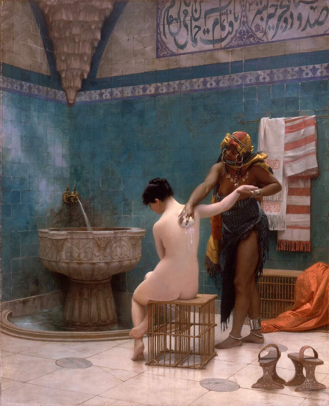 "Jean-Léon Gérôme, ""The Bath,"" ca. 1880–1885."