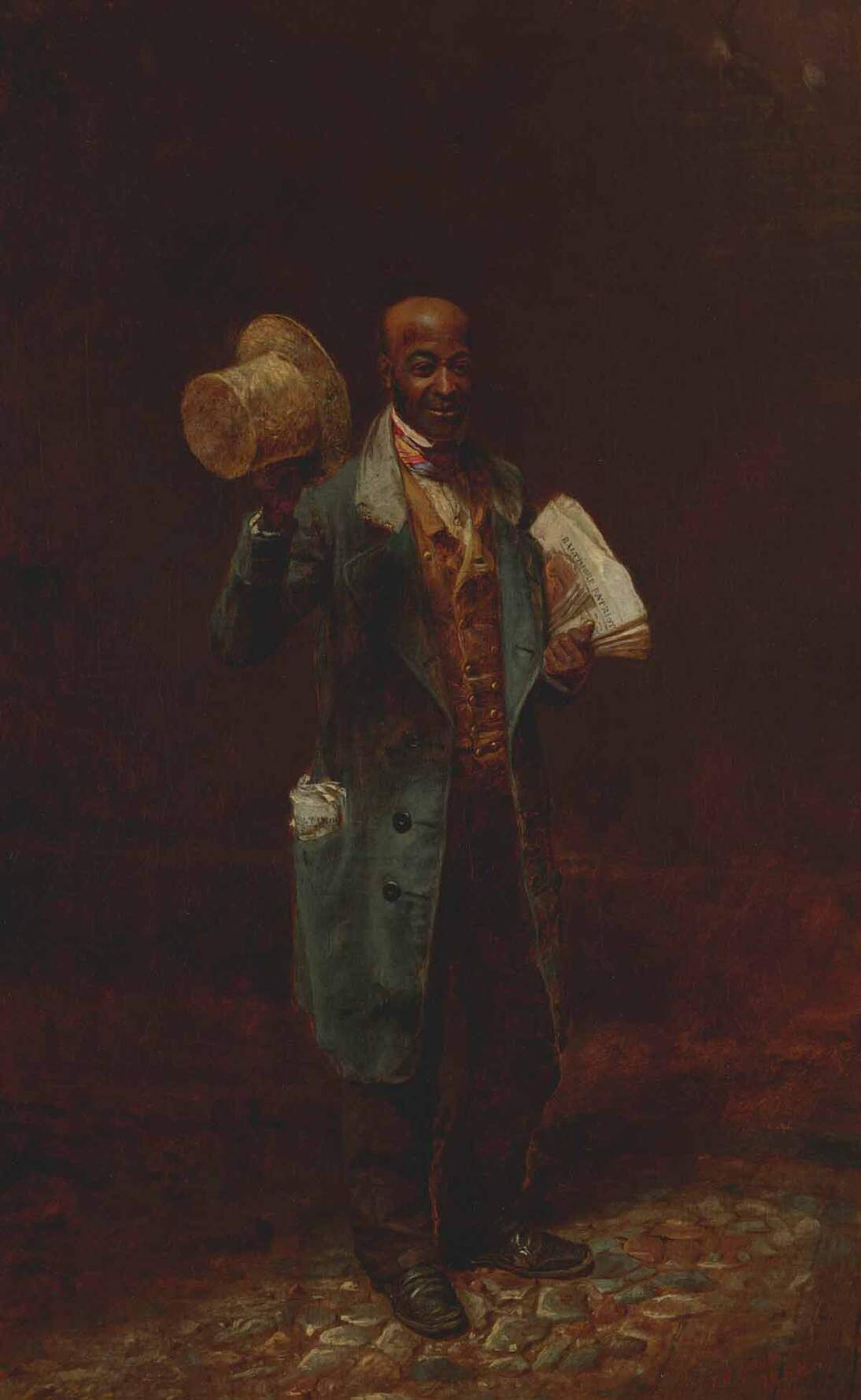 "Thomas Waterman Wood, ""Moses, The Baltimore News Vendor,"" 1858"