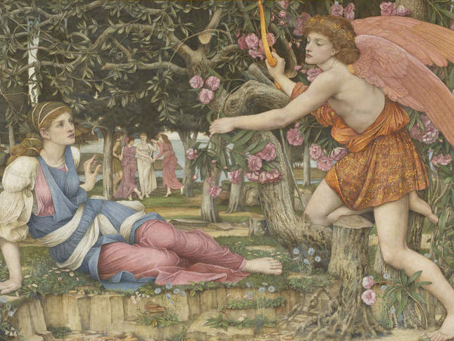 John Roddam Spencer Stanhope Love and the Maiden 1877 Legion of Honor Fine Arts Museums of San Francisco